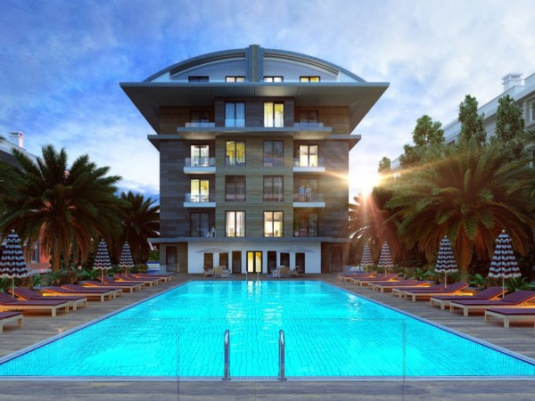 Stunning new project on the beachfront in Alanya