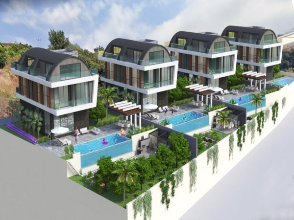 Lavish 6 bedrooms private villa with swimming pool in Alanya