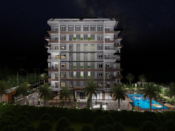 Stunning 2 bedroom apartment in upcoming complex in Alanya