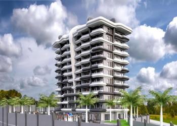 Superb new 1 bedroom apartment in a complex in Avsallar