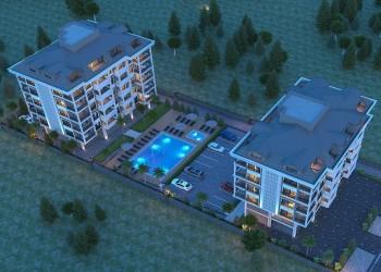 Baustart einer entzückende und sehr charmante Wohnanlage in Alanya