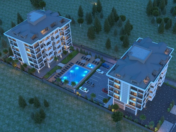 Cozy and very charming residential complex newly launched in Alanya