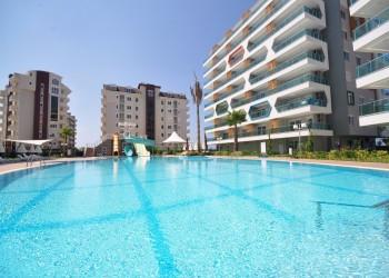 Geräumige 3-Zimmer-Wohnungen, eine Luxus Ferienanlage in Avsallar / Alanya