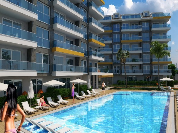 Exciting and modern design holiday complex in Alanya