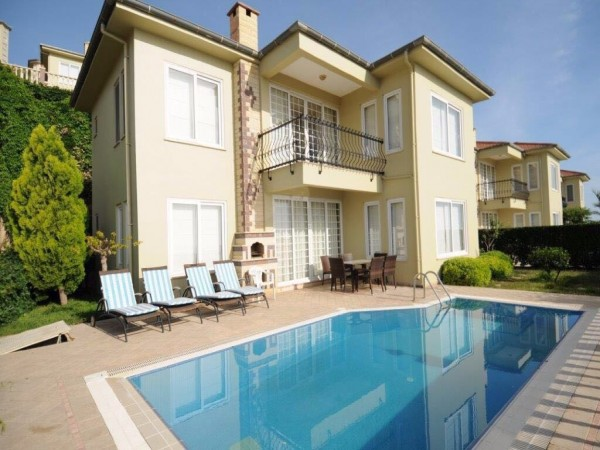 Luxury villa with private swimming pool and garden in Kargicak
