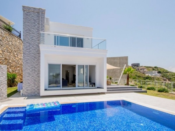 Fully furnished modern design villa for sale in Alanya