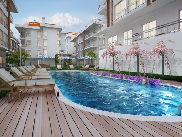 Sea view luxury apartments for sale in Yakuplu, Istanbul