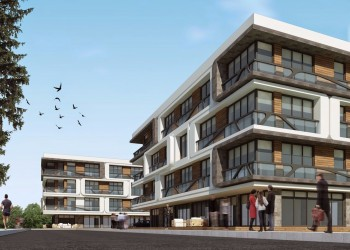 Luxury and modern design in the complex for sale in Yalova