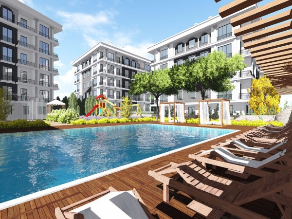 Luxury apartments in a family friendly complex in Gurpınar
