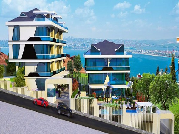 Fantastic complex with panoramic sea views in Istanbul