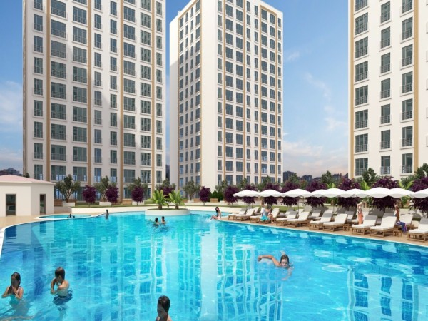Luxury complex with fantastic facilities on site in Bahcesehir