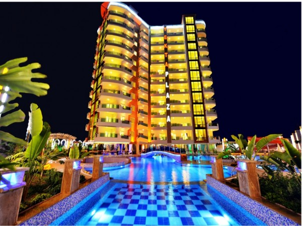 Fantastic 1 bedroom apartment in luxurious residential complex in Alanya