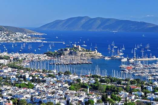 Bodrum land for sale with sea views